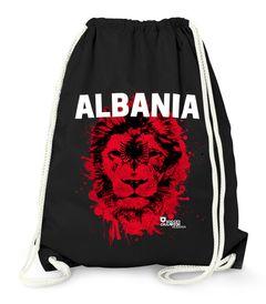 Turnbeutel EM WM Albanien Albania Löwe Flagge Shqipërisë Lion Fußball MoonWorks®