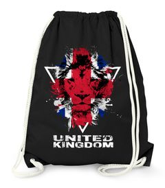 Turnbeutel - Great Britain UK United Kingdom Lion Flagge Fahne Farben - Gym Bag Moonworks®