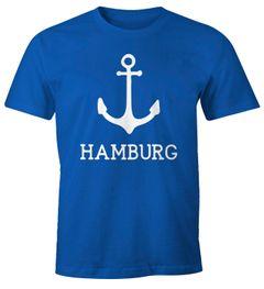 Herren T-Shirt mit Anker Aufdruck Hamburg Moonworks®