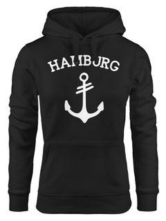 Kapuzen-Pullover Herren Hoodie Anker 2 Hamburg Moonworks®
