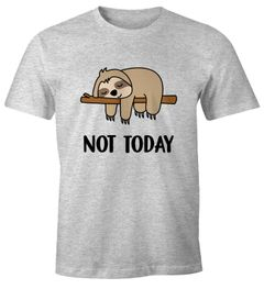 Lustiges Herren T-Shirt Not Today Chillen Fun-Shirt Moonworks®