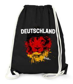 Turnbeutel Deutschland EM WM Löwe Flagge Deutschland Lion Flag Fußball MoonWorks