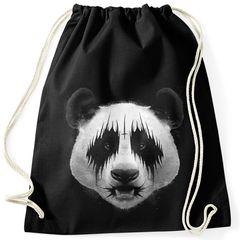 Turnbeutel Black Metal Panda Heavy Rock Musik Fun-Shirt Moonworks®