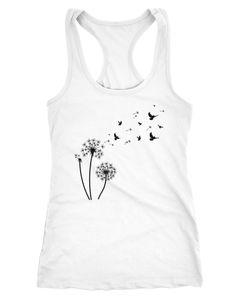 Damen Tank-Top Pusteblume Vögel Dandelion Birds Racerback Neverless®