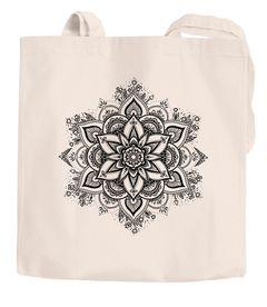 Jutebeutel Mandala Ornament Bohemian Boho Ethno Baumwolltasche Stoffbeutel Tragetasche Autiga®