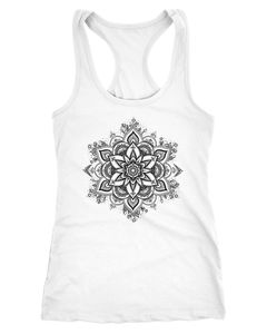 Damen Tank-Top Mandala Ornament Bohemian Boho Ethno Racerback Neverless®