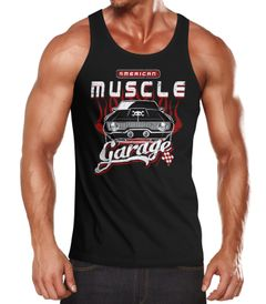 Herren Tank Top American Muscle Car Vintage Shirt Retro Auto Slim Fit Neverless®