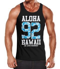 Herren Tank Top Aloha Hawaii Summer Palm Leafs Neverless®