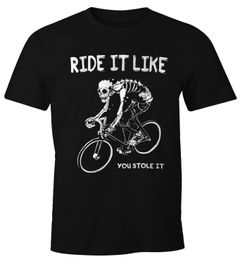 Herren T-Shirt Rennrad Fahrrad Bike Ride it like you stole it Moonworks®