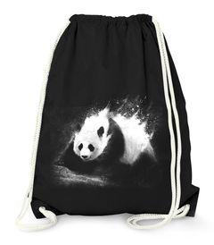 Turnbeutel Panda Splash Hipster Beutel Tasche Jutebeutel Gymsac Gymbag Moonworks®