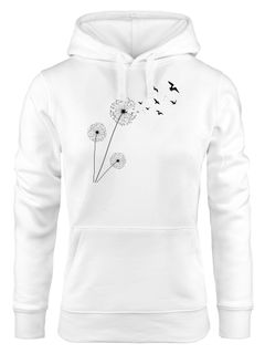 Hoodie Damen Pusteblume Vögel Dandelion Birds Kapuzen-Pullover Kapuzenpulli Neverless®