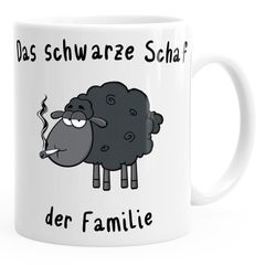 Kaffee-Tasse Das Schwarze Schaf der Familie MoonWorks®