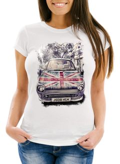 Damen T-Shirt United Kingdom Car UK Flag Flagge England Great Britain Neverless