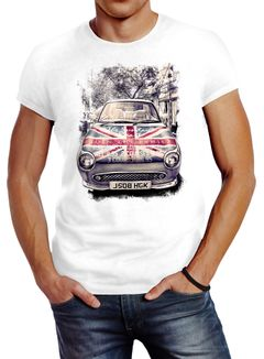 Herren T-Shirt Union Jack United Kingdom Car Flagge Flag England Neverless®