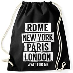 Turnbeutel Rome New York Paris London Wait for me Moonworks®