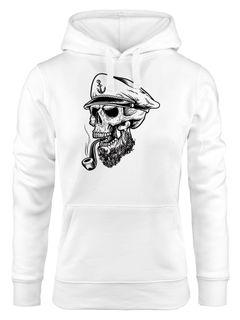 Captain Skull Sailor Totenkopf Schädel Kapuzen-Pullover