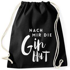 Turnbeutel Nach mir die Ginflut Gin Gin-Spruch Gymsac Gymbag Drawstring Baumwolle Moonworks®