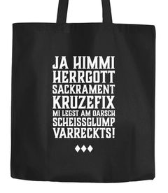 Jutebeutel Oktoberfest Himmi Herrgott Sakrament Baumwolltasche Stoffbeutel Tragetasche Moonworks®