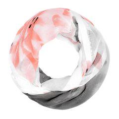 Loop-Schal Damen Blumen Glitzer Pailletten Schlauchschal Autiga®