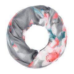 Damen Schlauchschal Loop-Schal Blumen Blüten Rundschal Infinity Scarf Autiga®