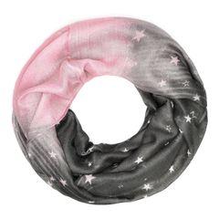 Damen Loop-Schal Sterne Stars Schlauchschal Infinity Loop Scarf Autiga®