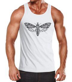 Herren Tank Top Falter Schmetterling Butterfly Totenkopf Skull Atzec Neverless®