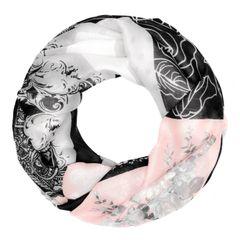 Loop-Schal Damen Blumen Rose Schmetterling Patchwork-Look Schlauchschal Autiga®