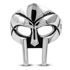 Herrenring Edelstahl Herren Ring Helm Spartaner Gladiator Krieger Maske Biker Gothic Männer Autiga®