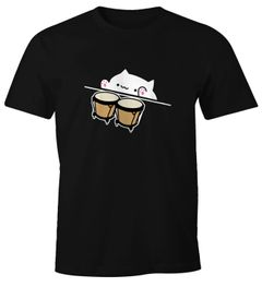 Bongo Cat Herren T-Shirt Meme Fun-Shirt Moonworks®