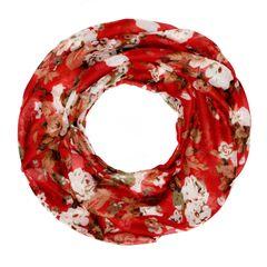 Damen Loop-Schal Schlauchschal Blumen Blüten Blümchen BlumenmusterAutiga®