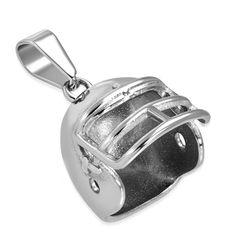 Edelstahl Anhänger American Football Helm Halskette Lederkette Kugelkette Damen Herren Autiga®