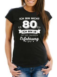 Damen T-Shirt Ich bin nicht {style_variation} sondern ich bin 18 mit {{style_variation}_jahre_erfahrung} Jahren Erfahrung Geburtstag Geschenk T-Shirt Moonworks®