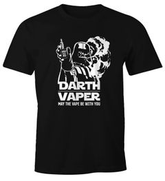 Herren T-Shirt Darth Vaper Fun-Shirt Dampfer-Shirt Moonworks®