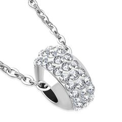 Damen Halskette Shamballa Anhänger Zirkonia Kristalle Autiga®