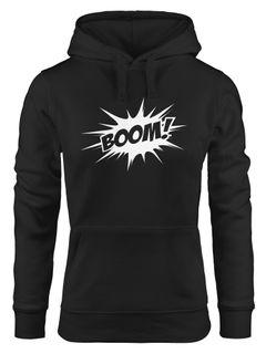 Kapuzen-Pullover Damen Comic Boom Hoodie Moonworks®