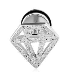 Fake Plug Edelstahl Diamant Fakeplug Ohr Piercing Ohrstecker Damen Herren Autiga®