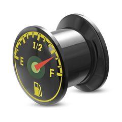 Flesh Tunnel Ohr Piercing Ohrstecker Tankanzeige Acryl Schraubverschluss Autiga®