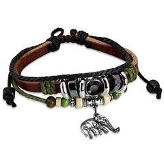 Echtleder-Armband Elefant Elephant Rindsleder Edelstahl Surfer Autiga®