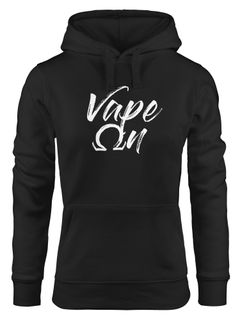 Kapuzen-Pullover Damen Vape On Ohm Dampfer Hoodie Moonworks®