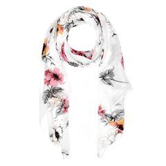 zeitloser Damen Schal mit Blumen Blüten Blumenschal Neverless®