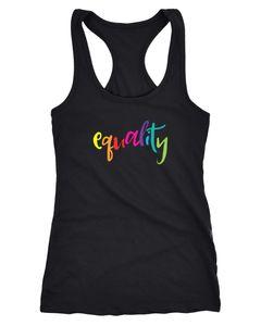 Damen Tanktop Equality Pride LGBT Racerback Moonworks®