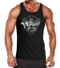 Herren Tank-Top V8 Power Motor Block Tuning Muskelshirt Muscle Shirt Neverless®