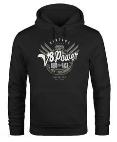 Hoodie Herren V8 Power Motor Block Tuning Kapuzen-Pullover Männer Neverless®