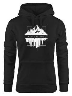 Hoodie Damen Into The Wild Berge Skyline Kapuzen-Pullover Frauen Neverless®