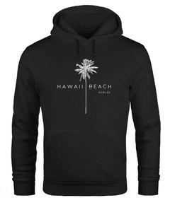 Hoodie Herren Hawaii Beach Palme Kapuzen-Pullover Männer Neverless®