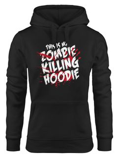 Kapuzen-Pullover Damen This is my Zombie killing Hoodie Halloween Horror Fun-Shirt Halloween Moonworks®