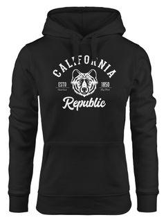 Hoodie Damen California Republic Grizzly Bär Kapuzen-Pullover Neverless®
