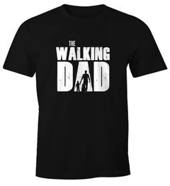 Herren T-Shirt The Walking Dad Vater Papa Geschenk Fun-Shirt Moonworks®