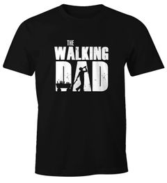 Herren T-Shirt The Walking Dad Bier Vatertag Geschenk Fun-Shirt Moonworks®