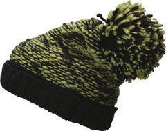 Strickmütze Damen Wintermütze Zweifarbig Mütze gefüttert Fleece Melange Bommelmütze Pudelmütze Neverless®